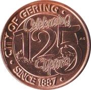 Token - Gering, Nebraska 125th Anniversary – obverse