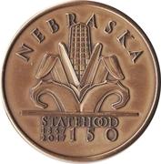 Token - Nebraska Sesquicentennial – obverse
