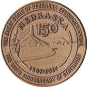Token - Nebraska Sesquicentennial – reverse