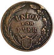Civil War Token - Glaubrecht's Washington / Union – reverse