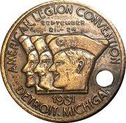 Token - American Legion Convention (Detroit, Michigan) – obverse