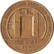 Token - 50th Anniversary Perpetual Savings & Loan Association (High Point, North Carolina) – obverse