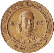 Token - 50th Anniversary Perpetual Savings & Loan Association (High Point, North Carolina) – reverse