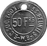 50 Francs - S.C. Soc. Econ. & B.S. Reunies W.B. (Brewery token) – obverse