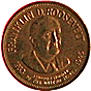 Token - Presidential Hall of Fame (Franklin D. Roosevelt) – obverse