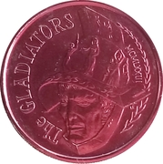 Mardi Gras Token - The Gladiators (Oscar Winners; New Orleans, Louisiana) – reverse