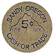 5 Cents - Sandy Area Merchants (Sandy, Oregon) – reverse