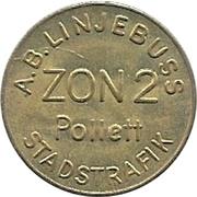 Zon 2 - A.B. Linjebuss (Landskrona, Skåne) – obverse
