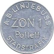 Zon 1 - A.B. Linjebuss (Landskrona, Skåne) – obverse