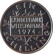 1 Schilling - Länderbank Weltspartag – reverse