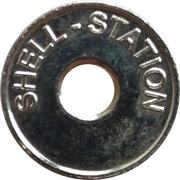 Car Wash Token - Shell Station – obverse