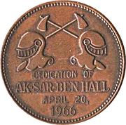 Token - Dedication of Ak-sar-ben Hall (Omaha, Nebraska) – reverse