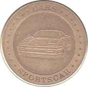 Car Wash Token - Cars (St. Petersburg) – obverse