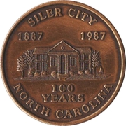Token - Centennial of Siler City, North Carolina – obverse