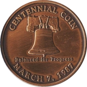 Token - Centennial of Siler City, North Carolina – reverse