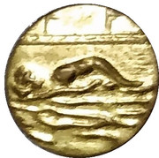 Token (swimmer) – obverse