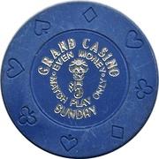 5 Dollars - Grand Casino (Biloxi, Mississippi) – obverse