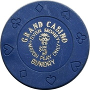 5 Dollars - Grand Casino (Biloxi, Mississippi) – reverse