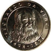 Token - I Grandi Protagonisti del Millennio (Leonardo Da Vinci) – obverse
