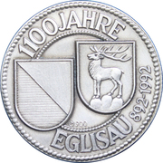Medallion - City of Eglisau (1100 Year Anniversary) – obverse