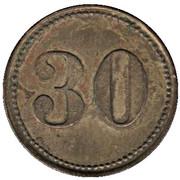30 Pfennig (Wert-Marke) – reverse
