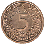 Token - 40 Years of 5 Mark – obverse