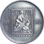Medallion - Swiss Air Mail 50 year – obverse