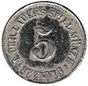 5 Pfennnig - L. Chr. Laurer's Speil-Münze – reverse