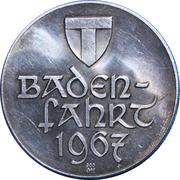 Medallion - Celebration of the Badenfahrt festival 1967 – reverse