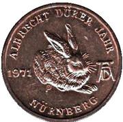 Token - Albrecht Dürer (500 anniversary; Nürnberg) – reverse