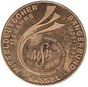 Token - 150 Years Mitteldeutscher Sängerbund – obverse