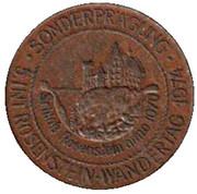 1 Pfennig - Heubacher Glückspfennig (Rosenstein Wandertag 1974) – obverse