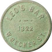 2 ½ Cents - Leo's Bar (Milwaukee, Wisconsin) – obverse
