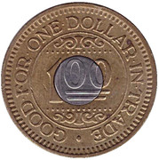 1 Dollar Car Wash Token - Jetkleen Coincar Wash – reverse
