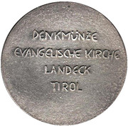 Medal - Evangelische Kirche Landeck Tirol – reverse