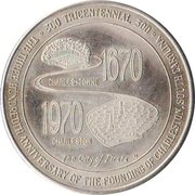 Token - Charleston, South Carolina Tricentennial (First Shot Fired in the Confederate War) – reverse