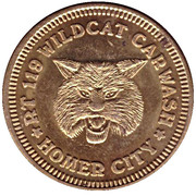 Car Wash Token - RT 119 Wildcat (Homer City) – reverse