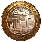 10 Dollar Gaming Token - Atlantis Casino Resort (Reno, Nevada) – reverse