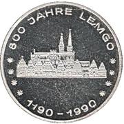 Token - 800 Jahre Lemgo, 500 Jahre Post – obverse