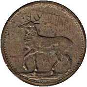 Token (Rabbit and Deer) – reverse