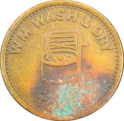 Laundry Token - W M Wash & Dry – obverse
