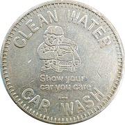 Car Wash Token - Clean Water Car Wash (Somerset, Pennsylvania) – obverse