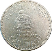 Car Wash Token - Clean Water Car Wash (Somerset, Pennsylvania) – reverse
