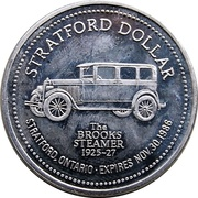 Stratford Dollar - City of Stratford (The Brooks Steamer) – reverse