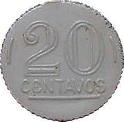 20 Centavos (Play money) – obverse