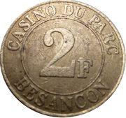 2 Francs - Casino du parc (Besançon) – reverse