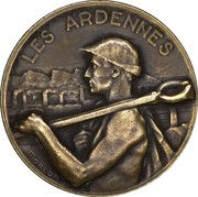 Token - Brussels International Exposition of 1935 (Les Ardennes) – obverse