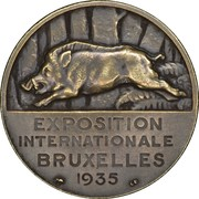 Token - Brussels International Exposition of 1935 (Les Ardennes) – reverse