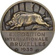 Token - Brussels International Exposition of 1935 (Les Ardennes) – reverse