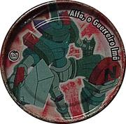 Elma Chips Token - Yu-Gi-Oh! Metal Tazos (Tazo #24: Alpha The Magnet Warrior) – obverse